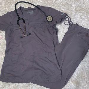 Light gray Grey's Anatomy scrub set